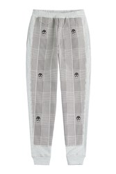 Alexander Mcqueen Printed Cotton Sweatpants Grey