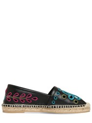 Red Valentino 20Mm Leather Espadrilles Black