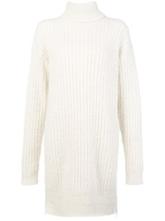 Givenchy Longline Knitted Jumper White