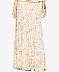 Denim And Supply Ralph Lauren Floral Print Gauze Tiered Maxi Skirt Hadley Floral