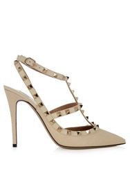 Valentino Rockstud Leather Pumps White