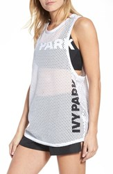 Ivy Park Mesh Tank Top Old Gold