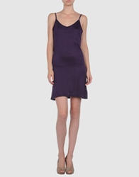 D.E.P.T Dept Short Dresses Dark Purple