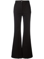M Missoni Flared High Waisted Trousers Black