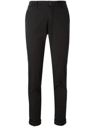 Fay Skinny Tailored Trousers Black