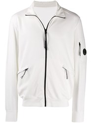 C.P. Company Cp Lens Detail Zip Up Jacket White