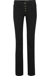 Saint Laurent Mid Rise Flared Jeans Black