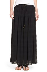 Michael Michael Kors Women's Crinkled Stripe Maxi Skirt