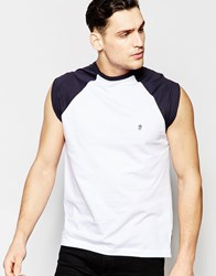 French Connection Cap Sleeve Raglan Vest Navy