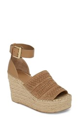 Marc Fisher 'S Ltd Alina Espadrille Wedge Sandal Tan Suede