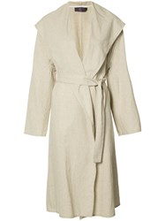 Y's Waterfall Coat Nude Neutrals