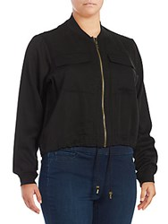 Rachel Roy Ribbed Knit Jacket Black