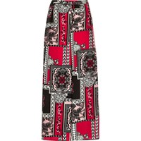 River Island Womens Red Print Palazzo Pants