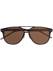 Bottega Veneta Eyewear Aviator Sunglasses Brown