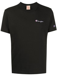 Champion Embroidered Logo Crew Neck T Shirt Black