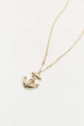 Urban Outfitters Anchor Necklace Gold