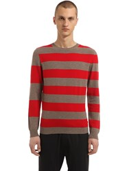 Annapurna Striped Cashmere And Wool Blend Sweater