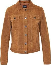 Soaked In Luxury Suede Jacket Brown
