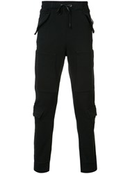 Hudson Flap Detail Sweatpants Black