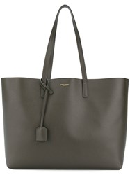Saint Laurent Shopping Tote Leather Grey