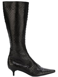 Helmut Lang Vintage Perforated Boots Brown