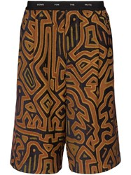 Song For The Mute Printed Logo Band Shorts Multicoloured