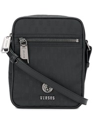 Versus Logo Print Messenger Bag Black