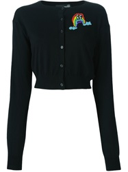 Love Moschino Beaded Rainbow Cardigan Black