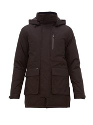 Nobis Technical Hooded Parka Coat Black