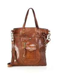 Polo Ralph Lauren Leather Tote Light Brown
