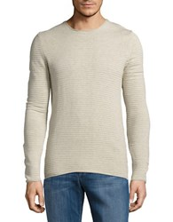 Selected Textured Knit Sweater Sand