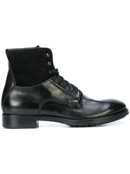 To Boot New York Abbott Lace Up Boots Black