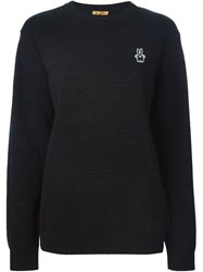 Peter Jensen Lurex Crew Neck Sweater Black