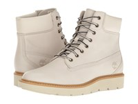 Timberland Kenniston 6 Lace Up Boot White Full Grain Women's Lace Up Boots