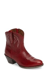 Ariat Women's Darlin Short Western Boot Rosy Red Leather