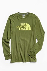 The North Face Half Dome Long Sleeve Tee Green