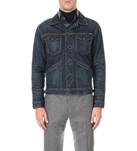 Tom Ford Faded Cotton Denim Jacket Indigo