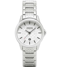 Coach 14501609 Classic Signature Stainless Steel Watch Silver