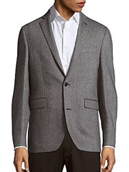Saks Fifth Avenue Two Button Cashmere Jacket Charcoal