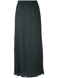 Emporio Armani Pleated Skirt Women Silk Polyester 46 Green