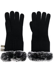 N.Peal Lined Cuff Gloves Black