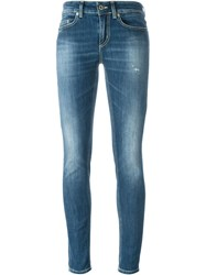 Dondup Washed Skinny Fit Jeans Blue