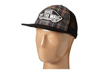Vans Beach Girl Trucker Hat Black Plaid Caps