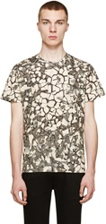 Christopher Kane Ivory And Grey Rubble Print T Shirt