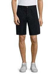 Rag And Bone Mid Rise Solid Shorts Navy