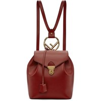 Fendi Red Leather Backpack