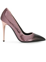 Tom Ford Sequinned Contrast Toe Pumps Pink And Purple