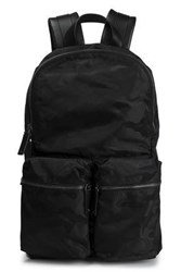 Valentino Garavani Leather Trimmed Shell Backpack Black