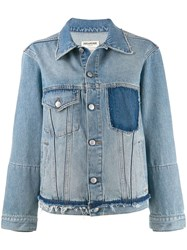 Zadig And Voltaire Klausi Dirty Denim Jacket Blue