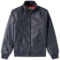 Baracuta G9 Dry Wax Harrington Jacket Blue